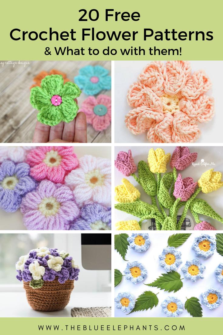 Flower crochet pattern diagram free | 1102x735
