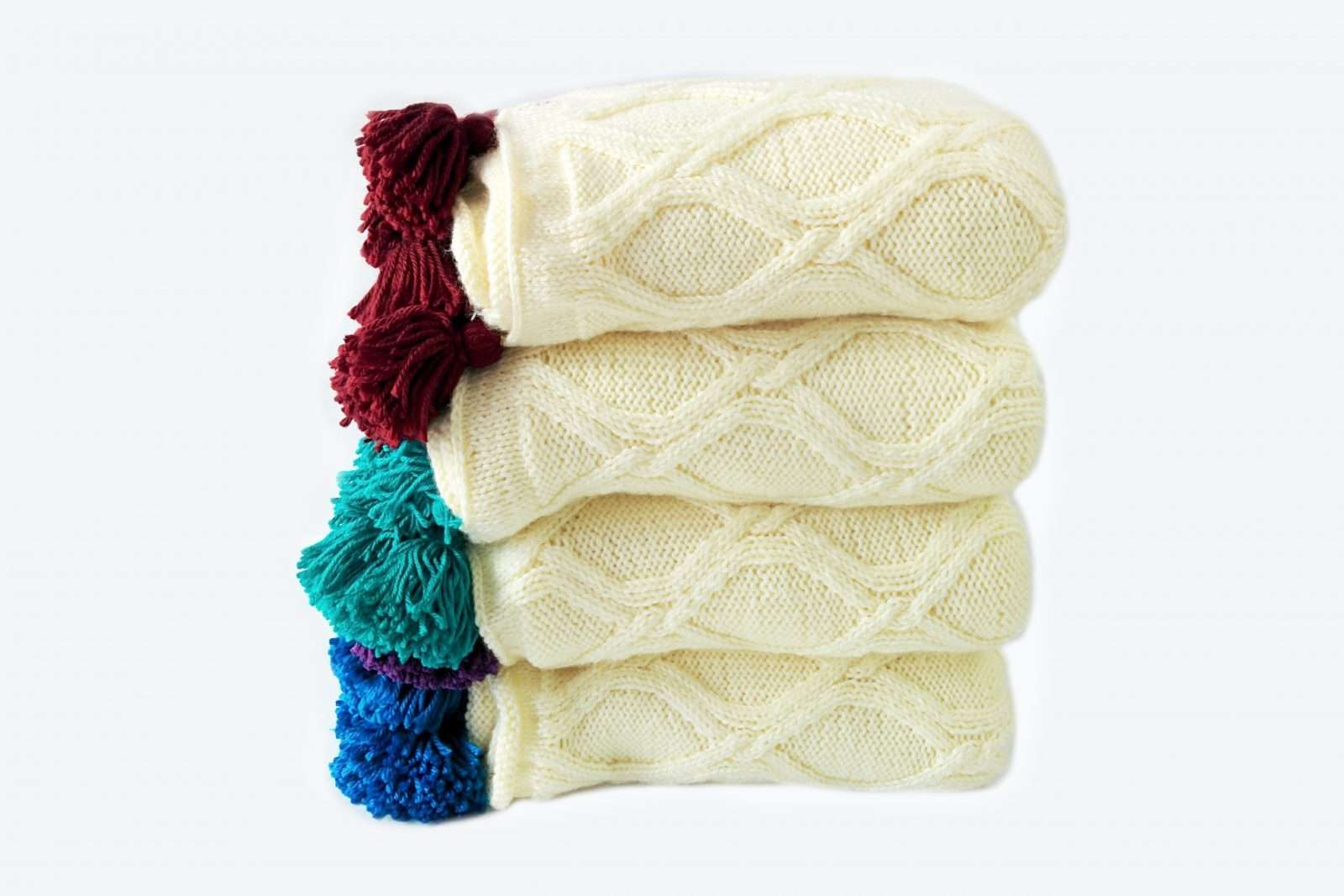 Twisted Cables THrow: chunky knit blanket pattern