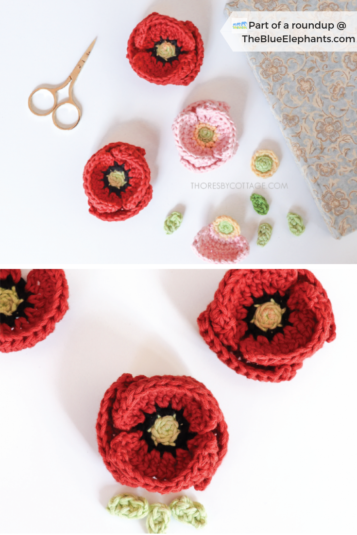 20 Free Patterns for Crochet Flowers & What to Do with Them |