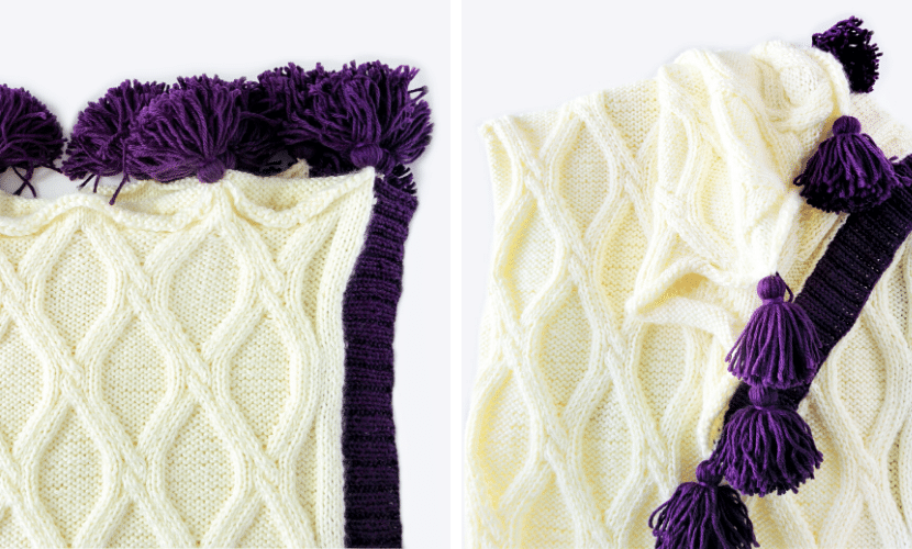 Twisted Cables Throw: Free Chunky Knit Blanket Pattern