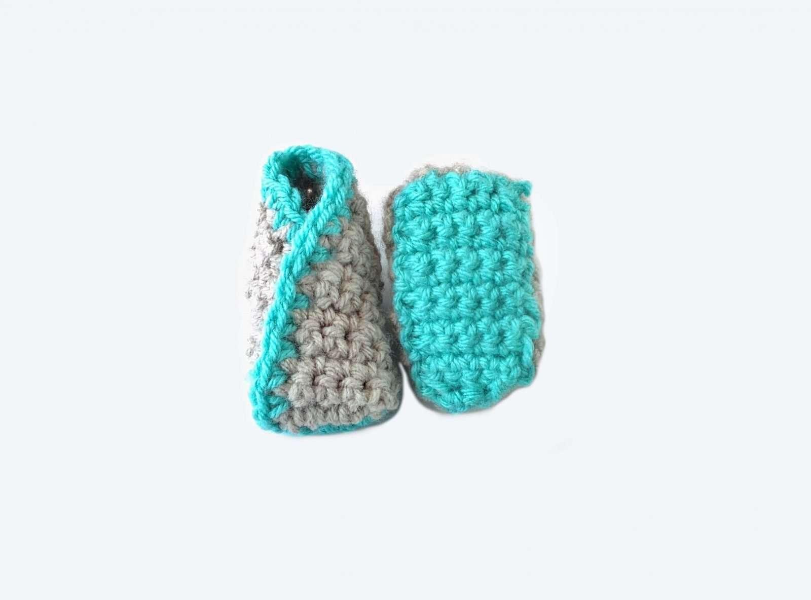 kimono crochet baby booties pattern