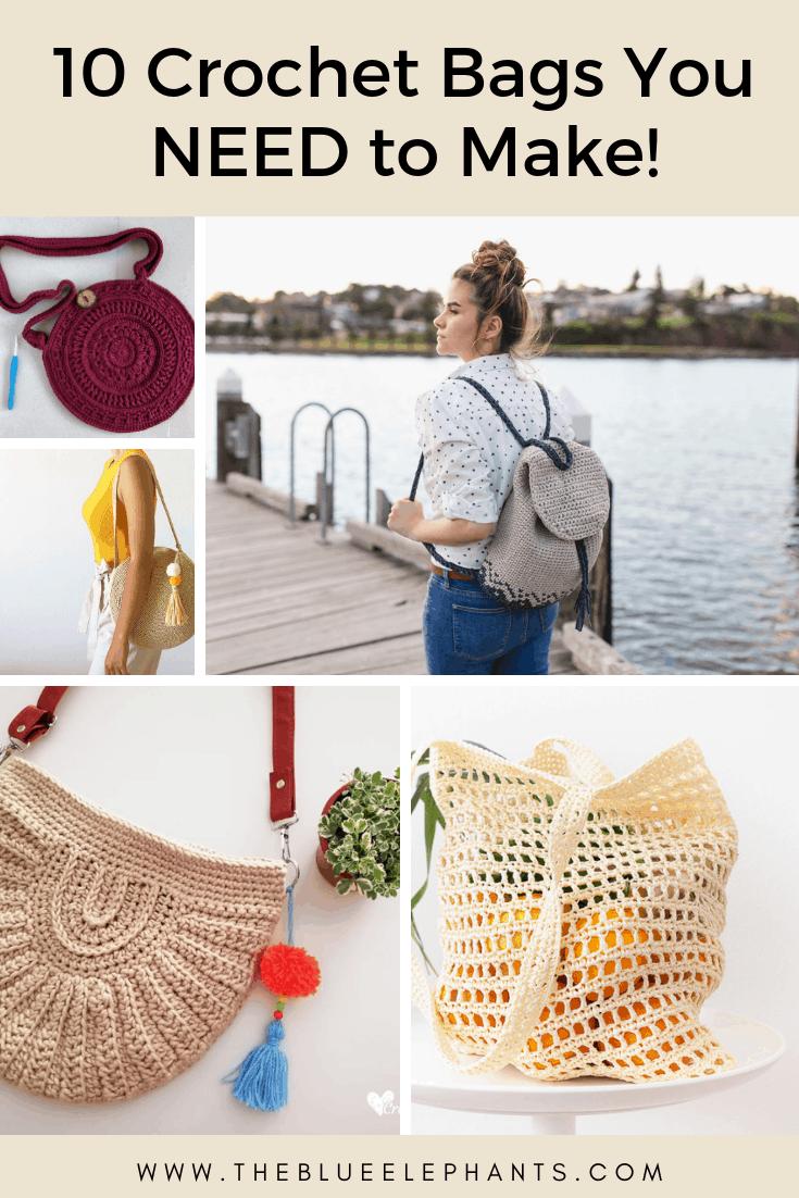 10 crochet bags you need to make free crochet pattern roundup