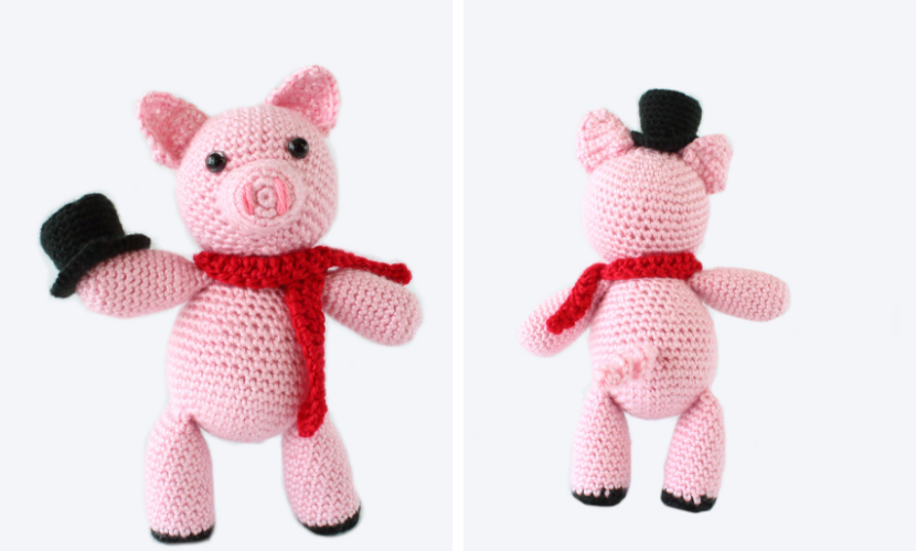 Freebie Friday: Piglet Crochet Pattern • One's Creative Mind | 500x830