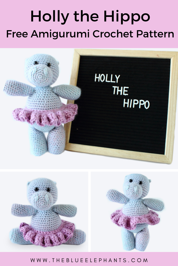 Hippo Amigurumi In Bikini - Free Crochet Pattern • Craft Passion | 1102x735