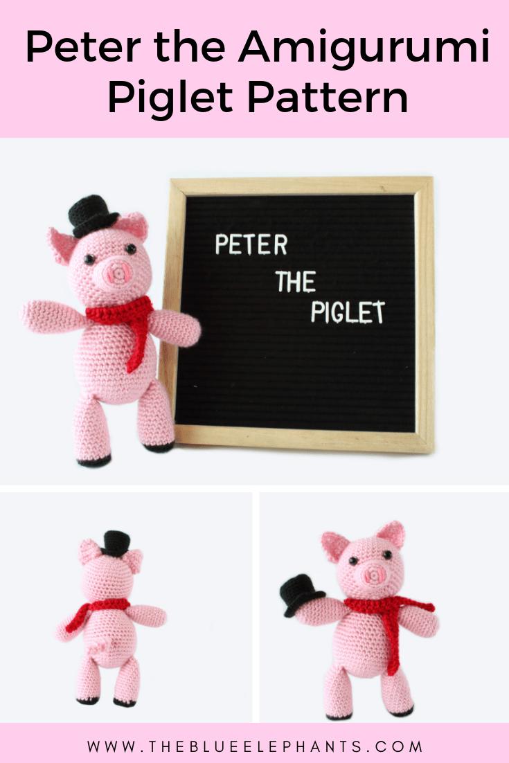 peter the amigurumi piglet crochet pattern