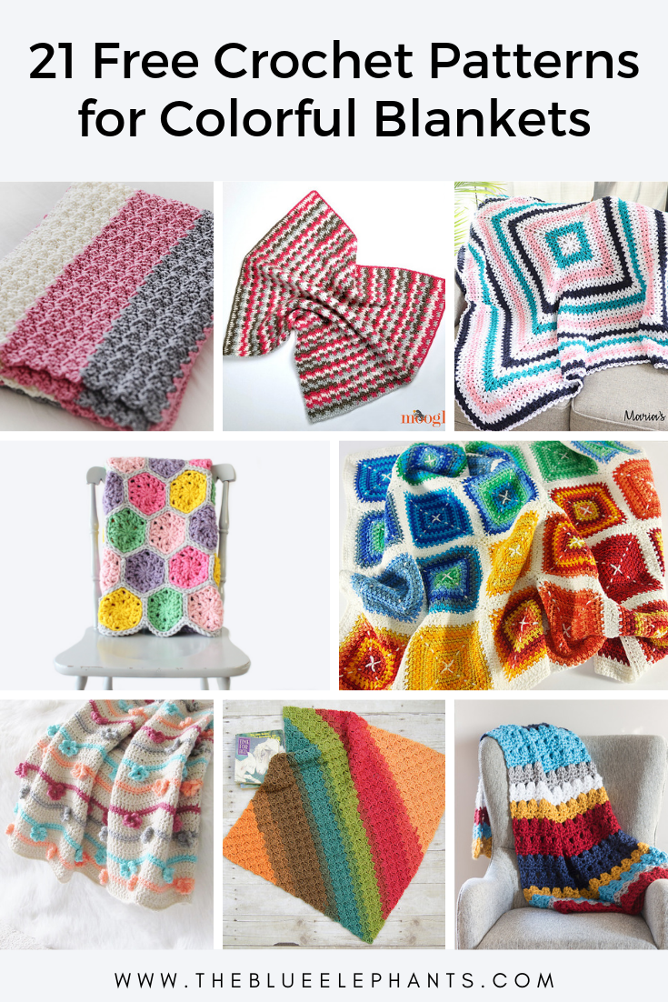 21 colorful blanket crochet patterns