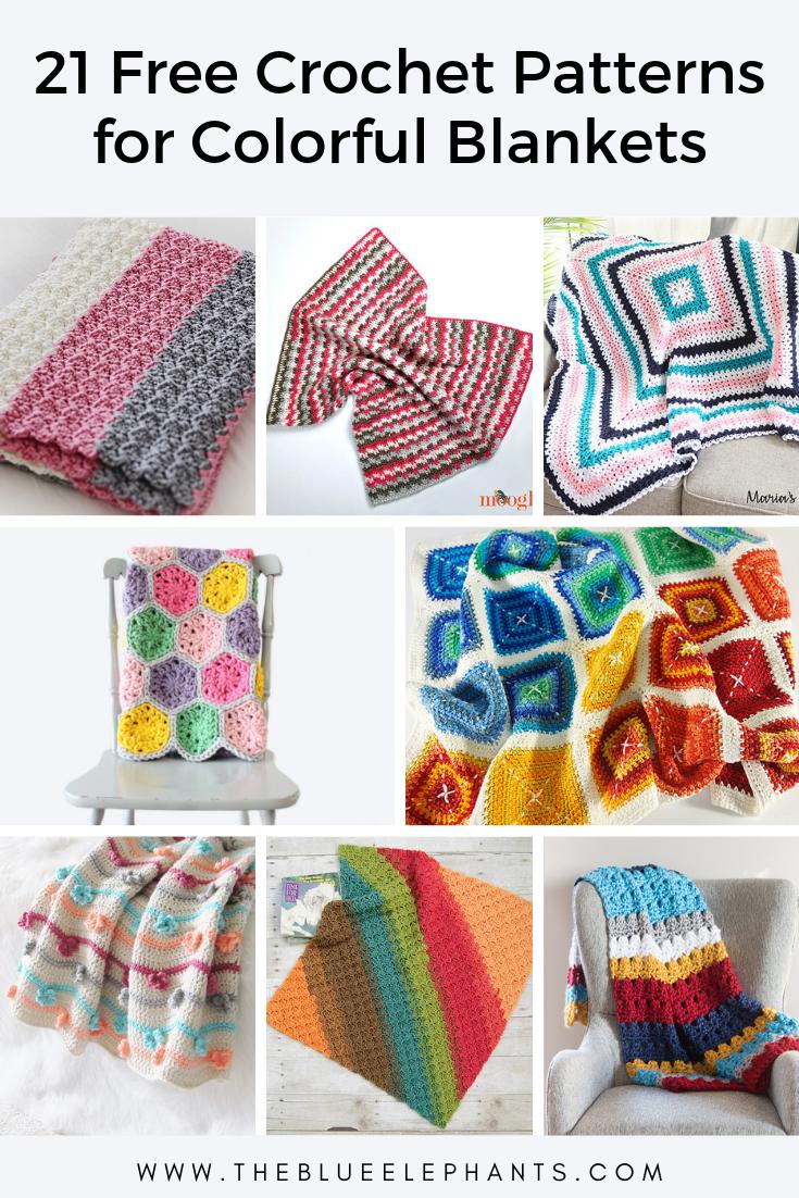 21 colorful blanket crochet patterns