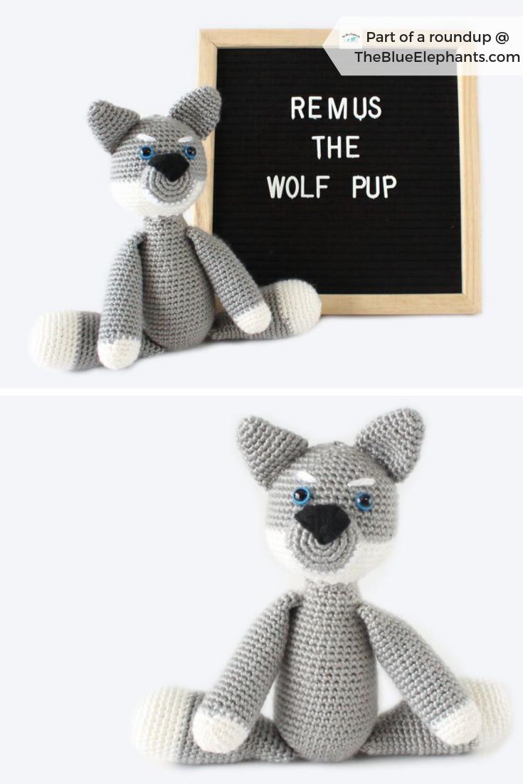crochet wolf pup