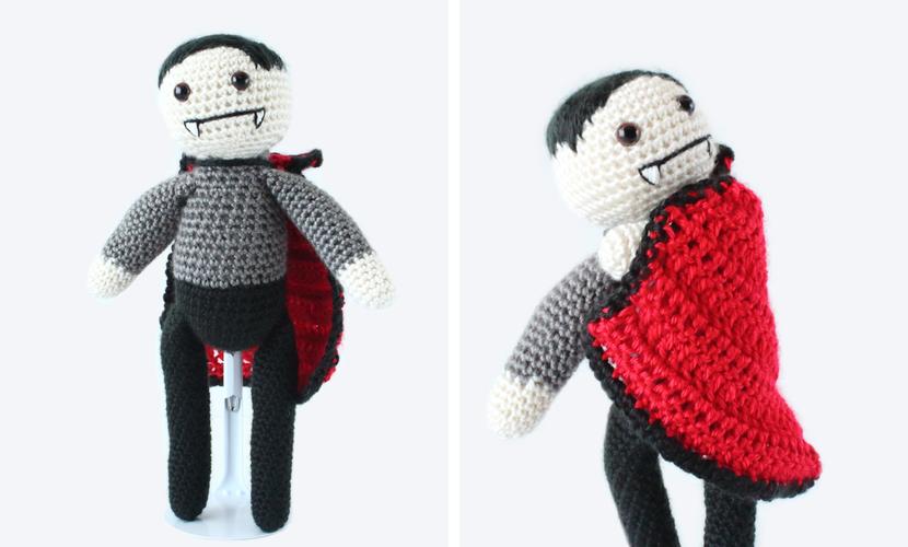 Viktor the Vampire: Free Halloween Crochet Pattern