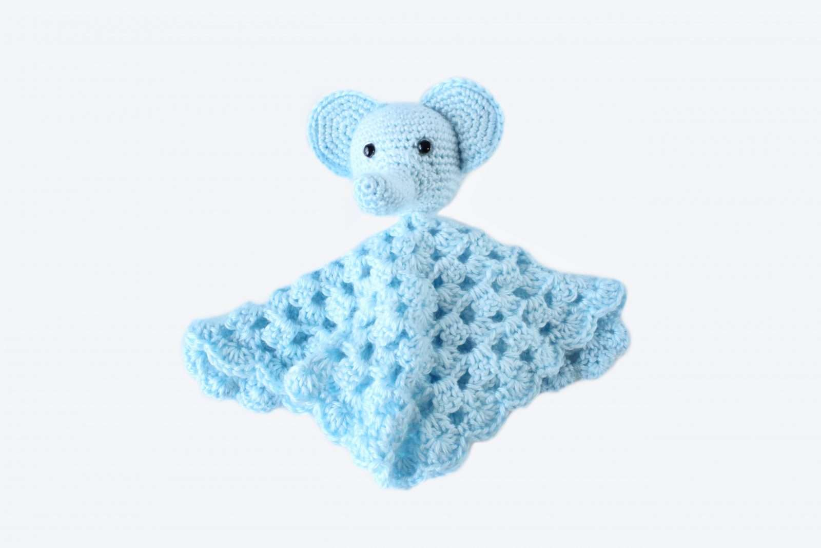 Ellie the Elephant Lovey- Free Pattern - A Purpose and A Stitch | 1067x1600