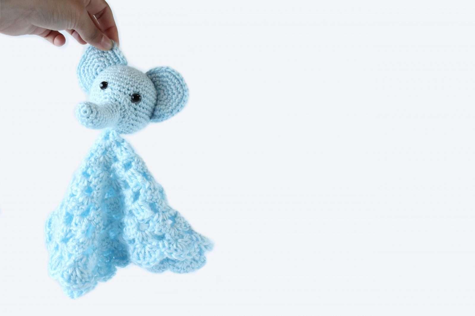 Elephant Lovey Free Crochet Baby Blanket Pattern