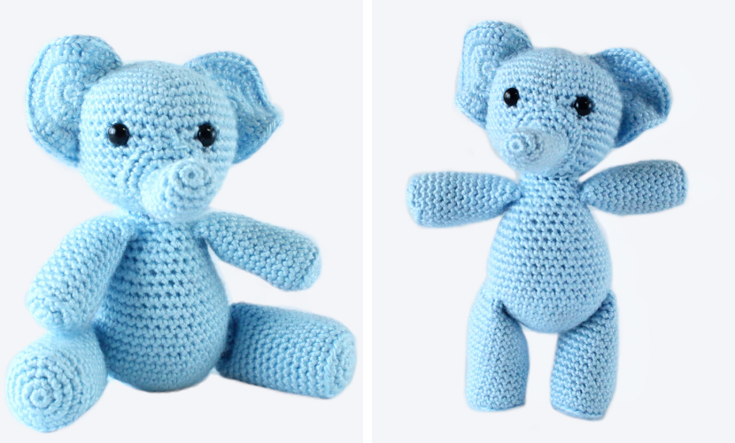 Amour Fou | Crochet }: { Gustav, the balancing elephant... } | 500x830