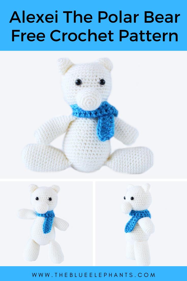 Ravelry: Polar Bear pattern by Brenna Eaves | 1102x735