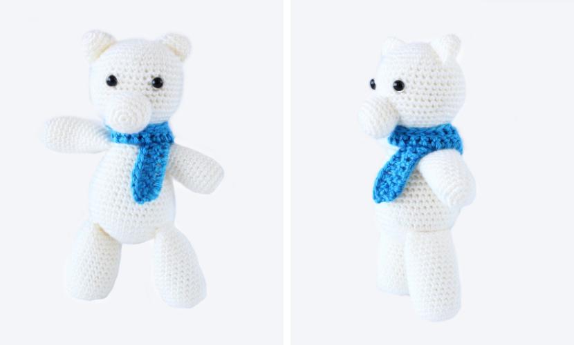 Alexei the Polar Bear: Free Crochet Amigurumi Pattern