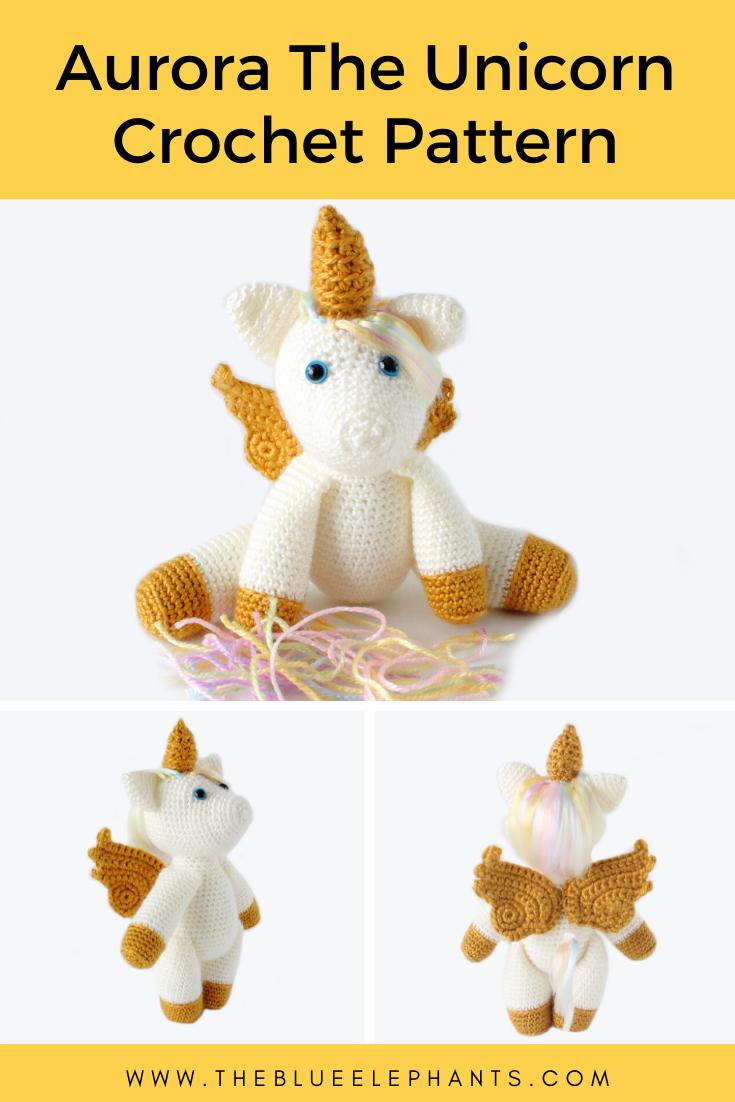 Unicorn keychain amigurumi - Amigu World | 1102x735