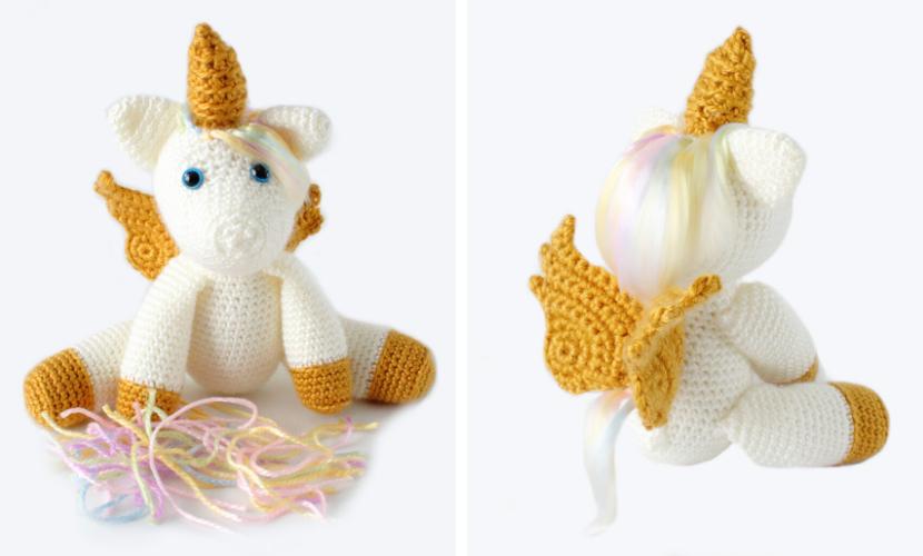 Aurora the Unicorn: Free Unicorn Crochet Pattern