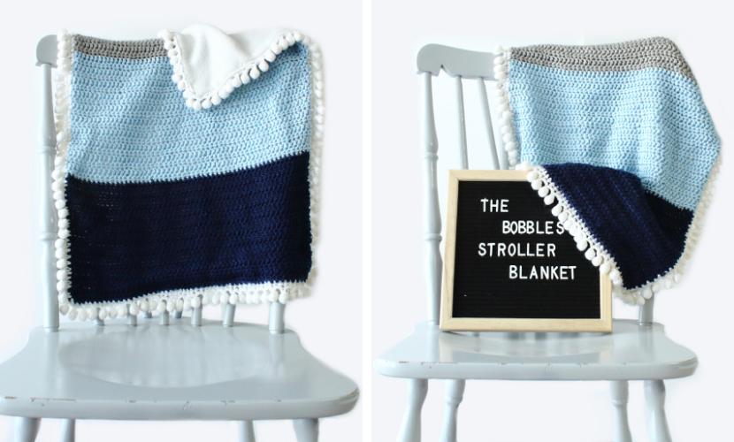 Bobble Stroller Blanket: Free Baby Blanket Crochet Pattern