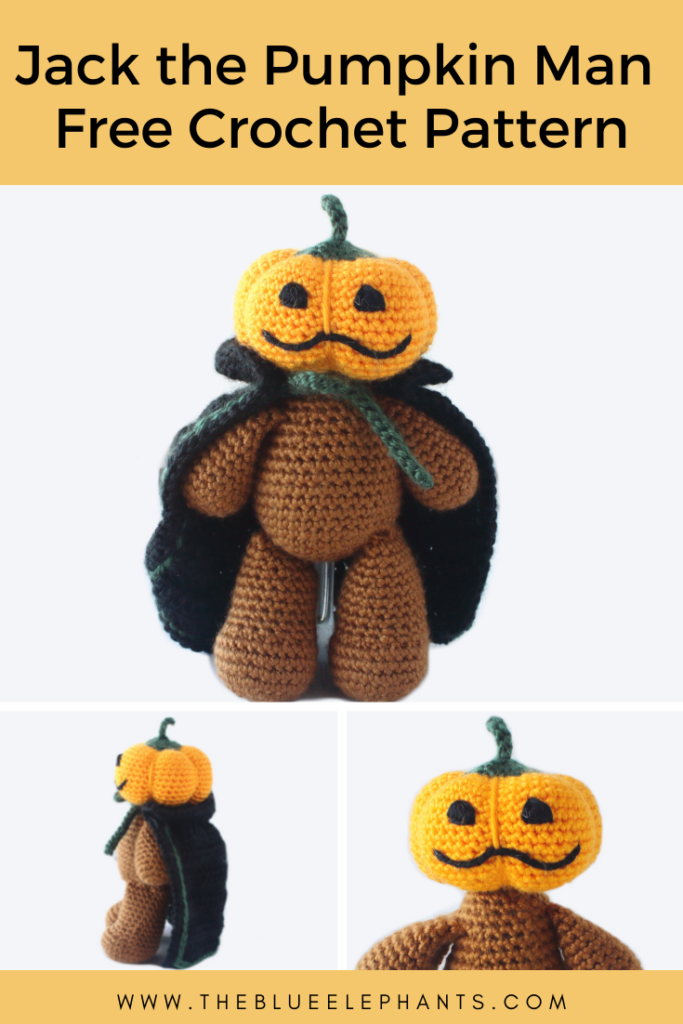 Jack the Pumpkin Man Halloween Plushie Pattern