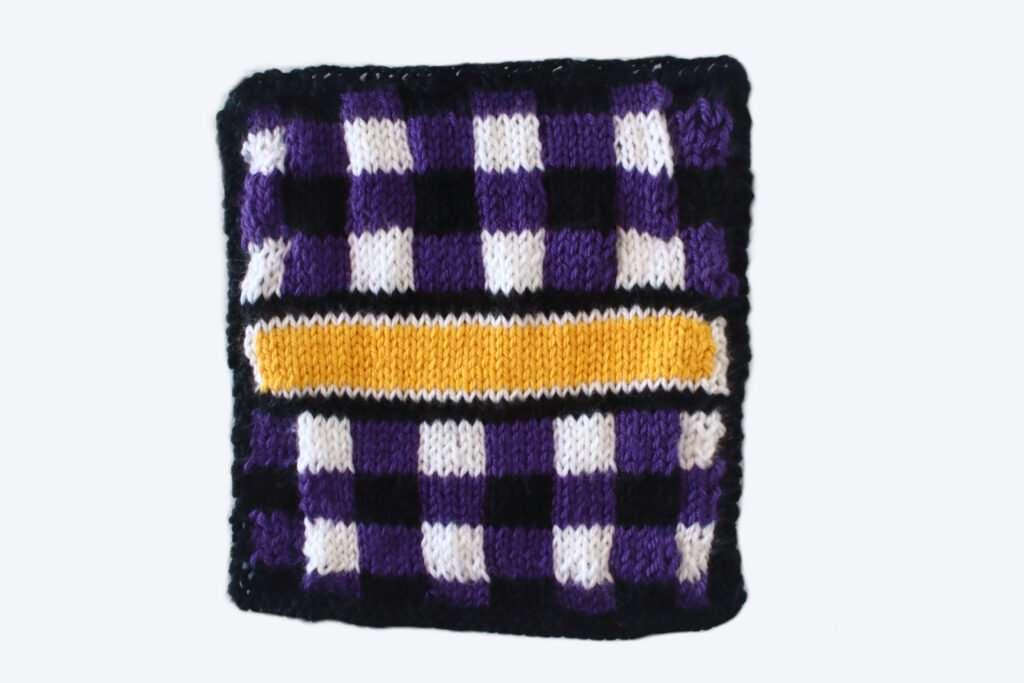 Padrão quadrado de tricô xadrez